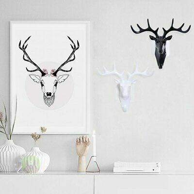 Europe Style Cute Deer Head Hanging Resin Wall Hangings Home Decor Cloth l1