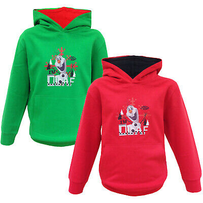 Girls Hoodie Disney Frozen New Hoody I'm Olaf Snowman Hooded Pullover Sweatshirt
