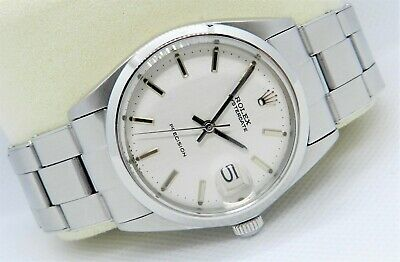 Rolex Oyster Perpetual Date 6694 + Box, Steel & White , Mens Watch, Stunning!