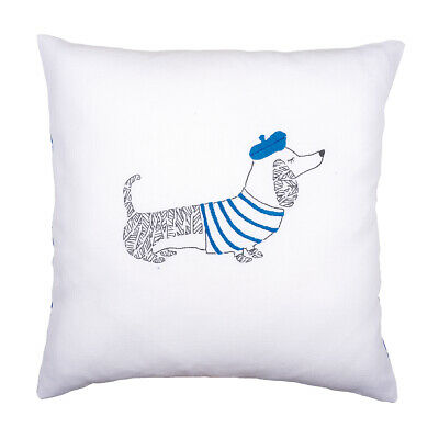 VERVACO|Embroidery Kit: Cushion: Dog Paris|PN-0157819