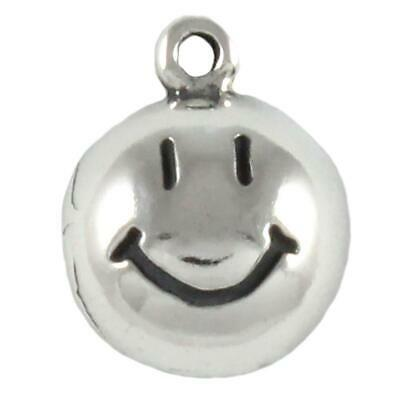 Smiley Face sterling silver charm .925 x 1 TINY Smile Happy charms CF5033
