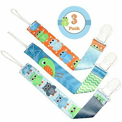 Liname Dummy Clip for Boys - 3 Pack - Premium Quality  Modern 2-Sided Design -