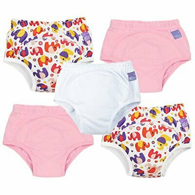 Bambino Mio, Potty Training Pants, Mixed Girl Pink Elephant, 18-24 Months, 5 Pac