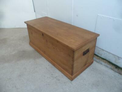 A Long Large Antique/Old Pine Victorian Coffer Blanket Box/Coffee Table