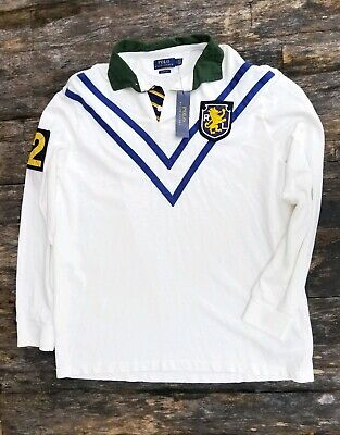POLO RALPH LAUREN men's classic fit rugby long sleeve polo shirt NEW $168 RECENT