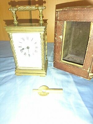 A Beautiful Antique French Carriage Clock With Box