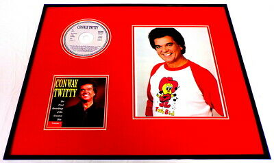 Conway Twitty Framed 16x20 Greatest Hits CD & Twitty Bird Photo Display