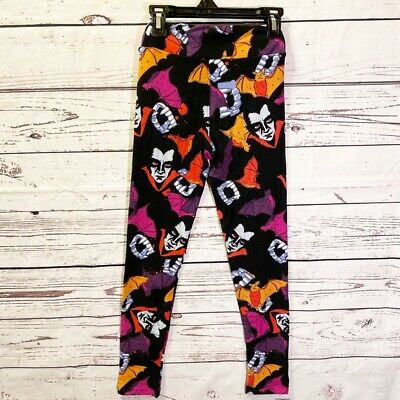 NWOT LulaRoe Tween Leggings Dracula Halloween Vampire Soft L/XL