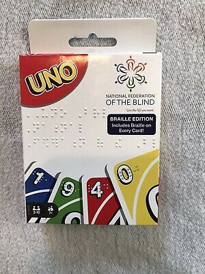 Mattel Games ~ UNO Braille Edition Card Game ~ New