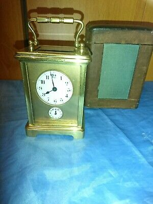 A Fine Antique French Carriage Clock With Alarm