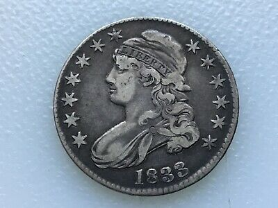 1833 Bust Half Dollar - Must See - Great coin