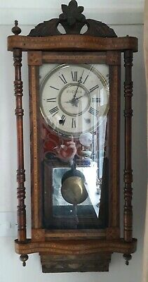 Antique Edwardian Inlaid Wall clock