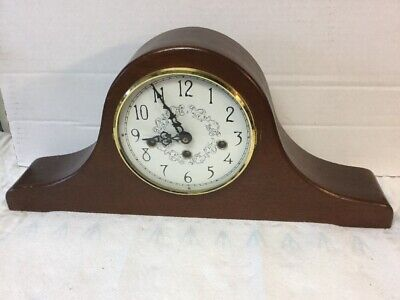 VTG Viking 77 Westminster Chime Mantel Clock w Hermle 340-020 2 Jewels Movement