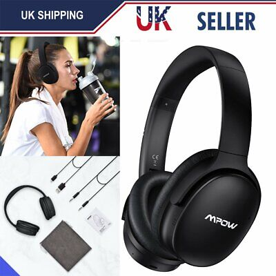 ANC Noise Cancelling Wireless Bluetooth Headphones Over-Ear Foldable HD HEADSETS