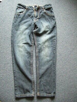 Boys Jeans Dark Denim Age 10-11Yrs Yrs George  Adjust Waist  Leg 25 Inches Long