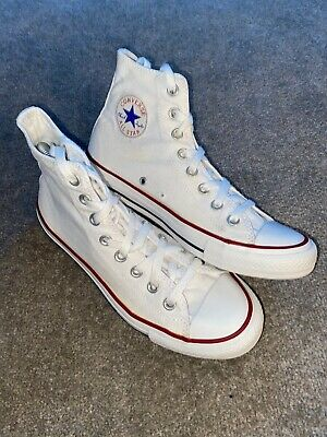 UNISEX CONVERSE ALL STAR CHUCK TAYLOR WHITE HI TOP   TRAINERS SIZE UK 7 Eu 40