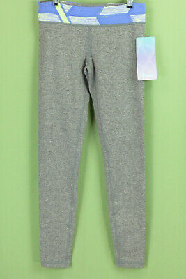 336 NWT Ivivva by Lululemon Girl gray sport leggings pants NEW Size 14