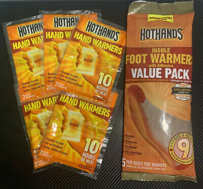 HotHands 5 Pairs Foot & 5 Pairs Hand Warmers Combo Pack - SEALED! FAST! **READ**