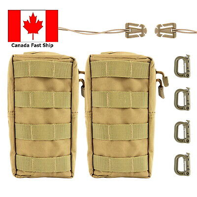 2 Pack Tactical Molle Pouches Compact Utility Waist Bag Outdoor Military Bag