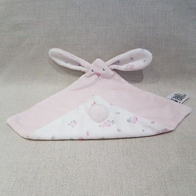 Mothercare Pink Bunny Rabbbit Blankie Soother Comforter NEW