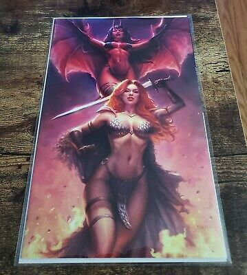 Red Sonja Age Of Chaos #1 Exclusive Sun Khamunaki Virgin Variant NM+ In Stock