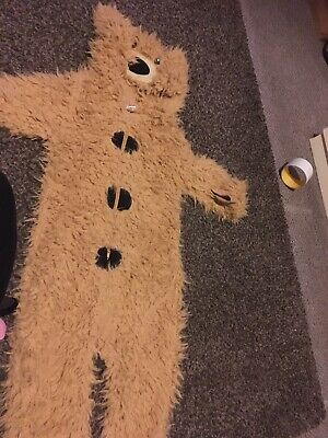 Teddy Bear Fluffy All On One Suit Pjs Or Costume Age 3/4 Yrs