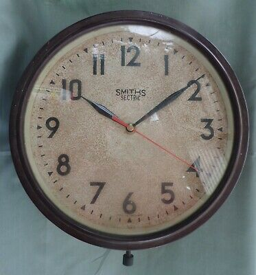 Vintage Smiths Sectric Bakelite Wall Clock CSIRO Quartz Conversion Working