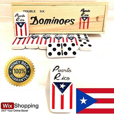 Puerto Rico Double Six Dominoes Flag Regular Size