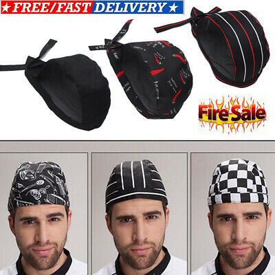 Adjustable Chef Hat Mesh Kitchen Cooking Hat Adult Restaurant Chef Skull Cap AU