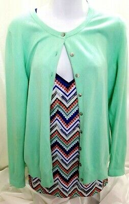 Old Navy Womens Mint Green Sweater With Energie Tank Top Size L Lot of 2