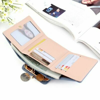 Women Wallet PU Leather Mini Money Purses Small Fold Coins Purse Card Holder