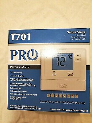 t701 heat/cool thermostat
