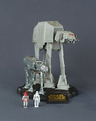 STAR WARS ACTION FLEET IMPERIAL AT-AT 1995 LGTI w// Snowtrooper/&Imperial Driver