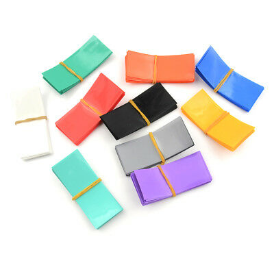 5 Colours 15 Styles Insulator Caps Available Heat Shrink 18650 Battery Wraps