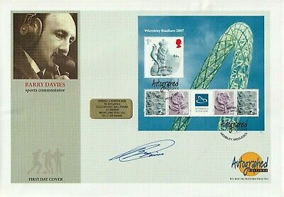 17 May 2007 Wembley Ms Fdc Hand Signed By Sports Commentator Barry Davies Shs