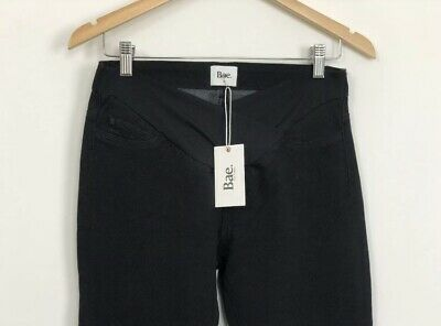 BAE THE LABEL Womens Black Maternity Day By Day Under Bump Jeans Size M NWT 8 10