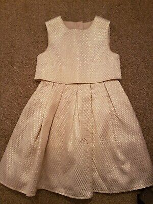Next girls flower pattern dress age 6yrs, gold dress from mothercare age 6-7yrs