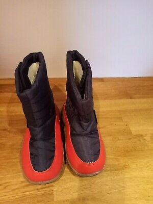 Girls/Boys Snow Boots Size 10 Mountain Warehouse Black/red Worn Once