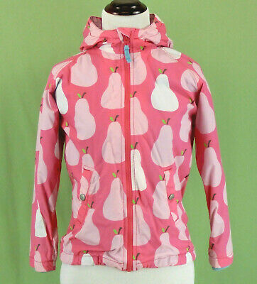 320 Mini Boden girl  PINK Pear  Spring jacket coat EUC hooded  Size 9-10