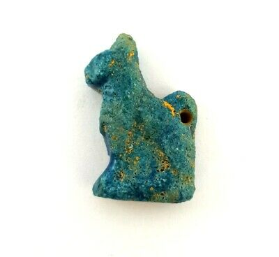 Bastet Egypt Rare Egyptian Bast Antique Amulet Unique Hieroglyphic Faience