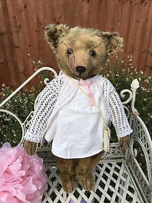 NO RESERVE! Endearing 1920s Bing Bear: Old Antique German Teddy~Hump~Dressed