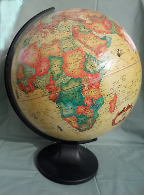 Vintage World Globe Raised Topography 30cm Micador Denmark