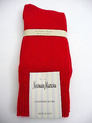 Men's NWT Red Cashmere Blend Socks One Size Neiman Marcus