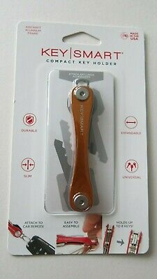 KeySmart Orange Made in USA brand new compact key holder