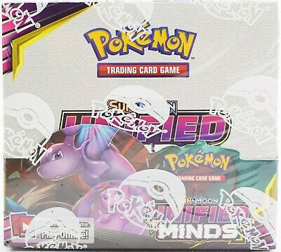 Pokemon Tcg Sun & Moon Unified Minds Booster Sealed Box - English