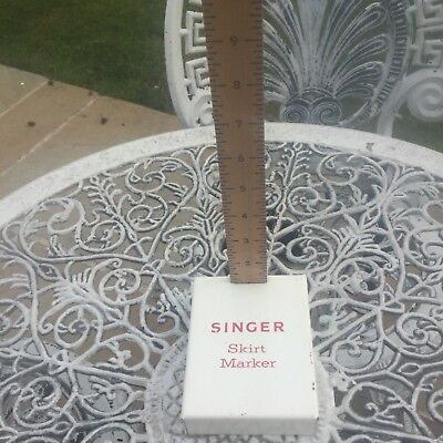 "Vintage 24"" Wooden Rule-Singer Skirt Marker Chalk Hem Sewing Dress Maker"