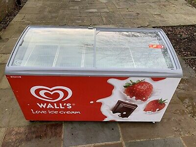 Commercial Ice Cream Chest Freezer Walls Branded