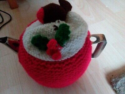 Hand knitted christmas tea cosy For MEDIUM SIZE Teapot