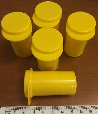 5 x Plastic Storage Canister With Hinged Lid, Useful Container