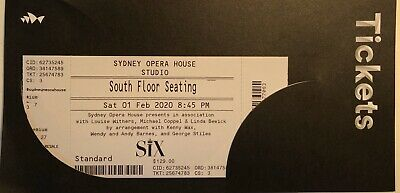 SIX The Musical - Sat 1st Feb 8.45pm.                2 * Tickets seated together